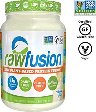 Picture of SAN Nutrition RawFusion Plant Protein Powder, Vanilla Bean, 32.9 Ounce