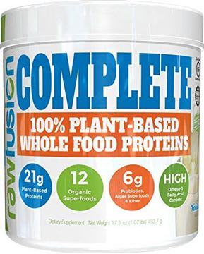 Picture of SAN Nutrition RawFusion Complete Plant-Based Whole Food Meal Replacement Powder, Vanilla Bean, 1 Pound