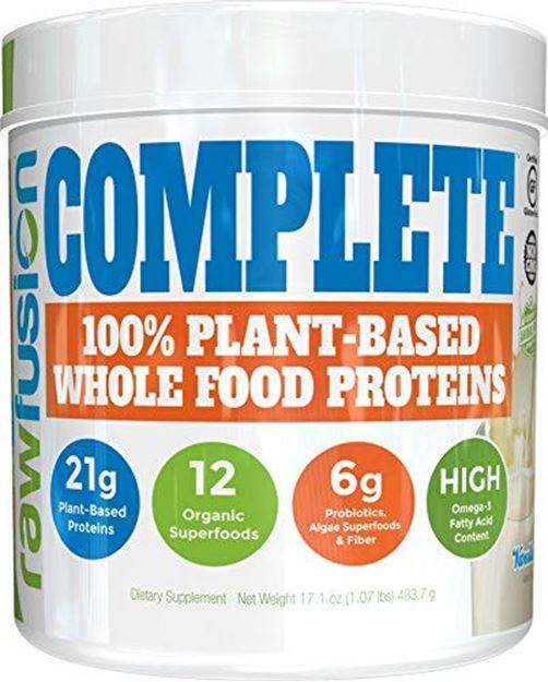 SAN Nutrition RawFusion Complete Plant-Based Whole Food Meal Replacement  Powder, Vanilla Bean, 1 Pound