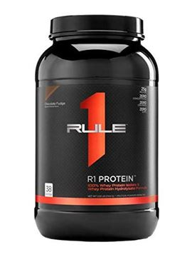 Picture of R1 Protein Whey Isolate/Hydrolysate, Rule 1 Proteins (38 Servings, Chocolate Fudge)