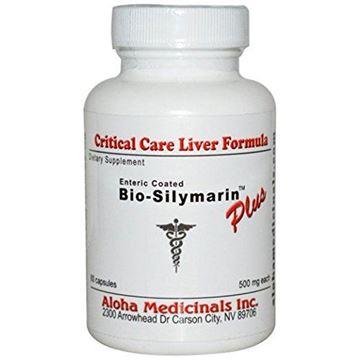 Picture of Aloha Medicinals - Bio-Silymarin Plus (Organic Raw Milk Thistle Extract) 500mg - 60 Capsules