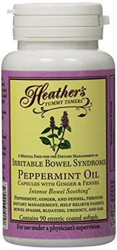 Picture of Heather's Tummy Tamers Peppermint Oil Capsules (90 per bottle) for IBS