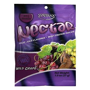 Picture of Syntrax Nectar Grab N Go Whey Protein, Wild Grape, 12 Count (27g) Packets