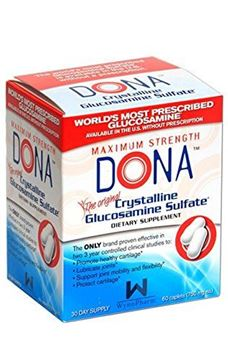 Picture of DONA Crystalline Glucosamine Sulfate 60 caplets - Blister Pack