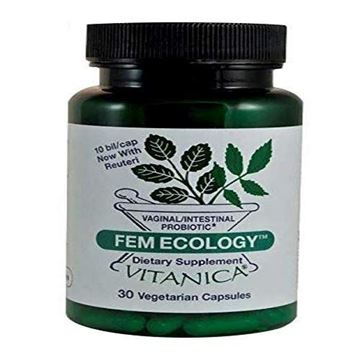 Picture of Vitanica FemEcology, Vaginal and Intestinal Probiotic Support, Vegetarian, 30 Capsules