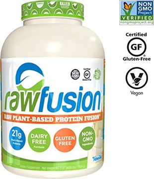 Picture of SAN Nutrition RawFusion Plant Protein Powder, Vanilla Bean, 4 Pounds