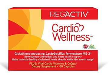 Picture of Reg'Active Cardio Wellness with Glutathione Producing Lactobacillus fermentum ME-3, Pantethine and Ubiquinol