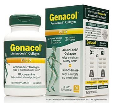 Picture of GENACOL Plus Glucosamine + Collagen Joint Supplements for Men and Women - 90 Capsules | Colageno Hidrolizado Pills for Joint Relief | Grass-Fed Pasture-Raised Bovine