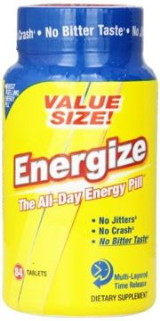 Picture of ENERGIZE Fast Acting Caffeine Energy Pills - Healthy Focus Supplement For Pre Workout, Study, and Everyday Limitless Genius - Weight Loss & Diet Appetite Suppressor - All Day Time Release