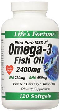 Picture of Life's Fortune Ultra Pure Meg-3 Omega-3 Fish Oil 120 Softgels