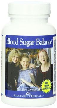 Picture of RidgeCrest Blood Sugar Balance, Herbal Support Capsules, 120 Vegetarian Capsules