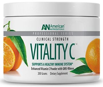 Picture of American Nutriceuticals Vitality C - 200 grams | Ultra High-Potency Vitamin C Powder Without Gastric Distress| Enhanced Absorption, Neutral pH with GMS-Ribose Complex