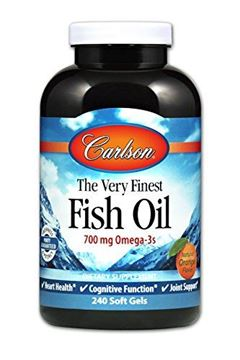Picture of Carlson Norwegian The Very Finest Fish Oil, Orange, 700 mg Omega-3s, 240 Soft Gels