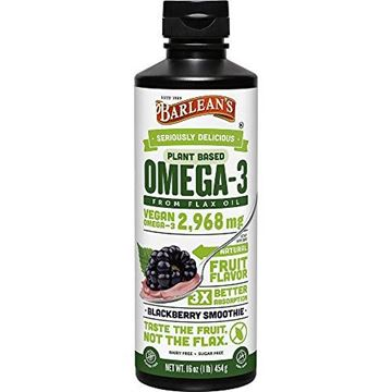 Picture of Barlean's Seriously Delicious Omega-3 Flax Oil, Blackberry, 16-oz