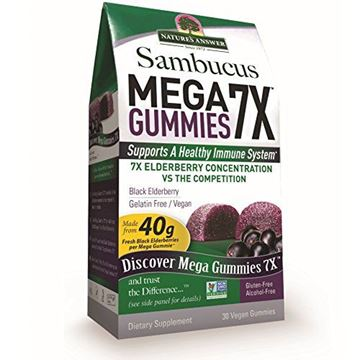 Picture of Nature's Answer Sambucus Mega Gummies 7X, Vegan Elderberry, 30 Count