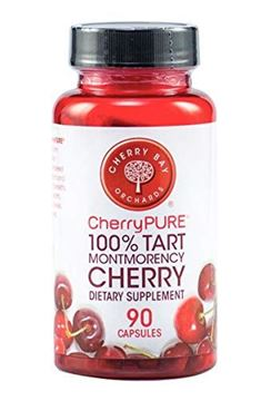 Picture of CherryPURE® 100% Tart Montmorency Cherry Antioxidant Supplement Capsules - 90 count ~ 3 Month Supply