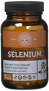 Picture of Global Healing Center Vegan-Friendly Selenium Made from Certified Organic Mustard Seed For Healthy Thyroid & Immune System (60 Capsules)