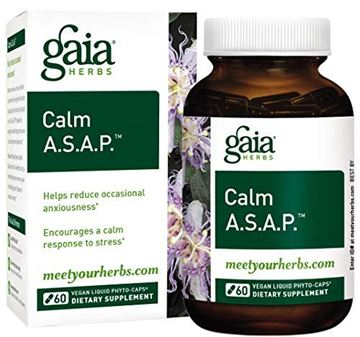 Picture of Gaia Herbs Calm A.S.A.P, Vegan Liquid Capsules, 60 Count – Natural Calming Supplement to Help Reduce Occasional Anxiousness & Tension, Non Drowsy, Non Habit Forming with Lavender, Holy Basil