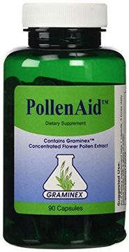 Picture of PollenAid Clinical Dosage of Graminex G63 Flower Pollen Extract - Full Spectrum Supplement for Prostate, Liver, Menopausal, and UTI Issues Among Others, 90 Capsules