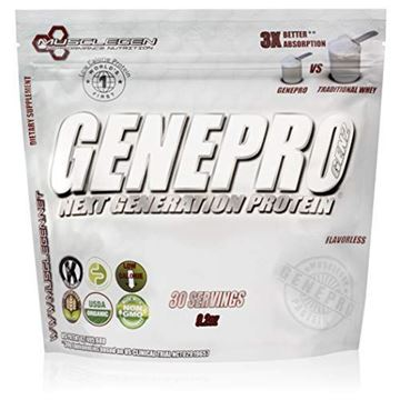 Picture of GENEPRO by Musclegen Research – Organic Non GMO Protein Powder – Flavorless Protein Powder – FODMAP Certified - Gluten Free, Low Calorie, Sugar Free Protein Powder