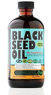 Picture of Premium Black Seed Oil Cold Pressed - 8 oz Glass Bottle - Unfiltered, Vegan & Non-GMO, No Preservatives & Artificial Color by Sweet Sunnah Black Cumin Seed Oil from 100% Genuine Nigella Sativa