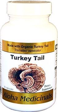 Picture of Organic Pure Turkey Tail (Trametes versicolor) by Aloha Medicinals - 90 Vegetarian Capsules