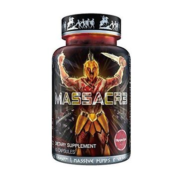Picture of MASSACR3 Muscle Builder & Laxogenin Supplement w/Superior Absorption | Mass Muscle Building & Recomping Formula w/Nitric Oxide Stimulator Vaso-6 & Urolithin B for Natural Body Building