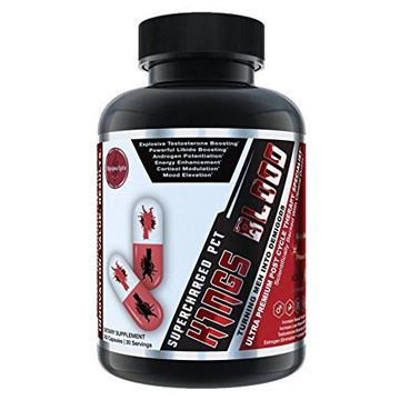 Picture of K1NGS BLOOD - Ultra Premium Natural Testosterone Booster Backed By Science and Innovation - Includes Key Ingredients Including KSM-66, Primavie Shilajit, And EuryGold Tongkat Ali - 30 Servings