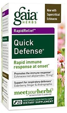 Picture of Quick Defense Gaia Herbs 20 VCaps