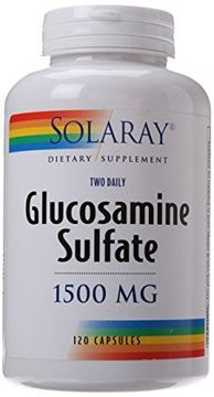 Picture of Solaray Glucosamine Sulfate Capsules, 1500mg, 120 Count