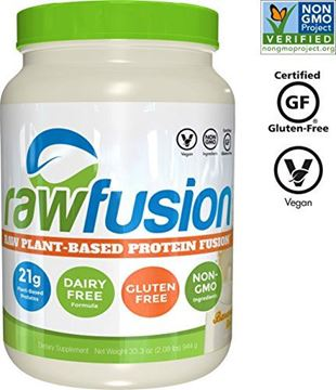 Picture of SAN Nutrition RawFusion Plant Protein Powder, Banana Nut, 2 Pounds