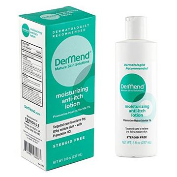 Picture of Dermend Moisturizing Anti Itch Lotion Target Care for Dry, Itchy, Mature Skin 8 Ounces