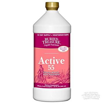 Picture of Buried Treasure Active 55 Plus Daily Vitamins Minerals Antioxidants and Herbal Blend for Active Adults 32 oz