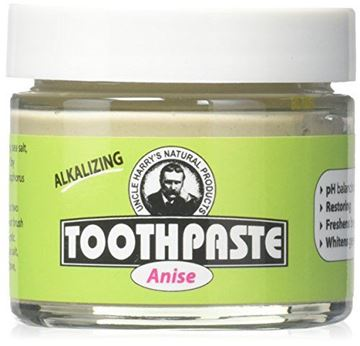 Picture of Uncle Harry's Fluoride Free Toothpaste - Anise (3 oz glass jar)