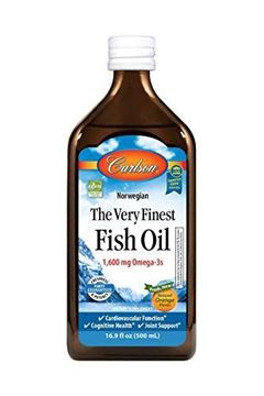 Picture of Carlson Norwegian The Very Finest Fish Oil, Orange, 1,600 mg Omega-3s, 500 mL