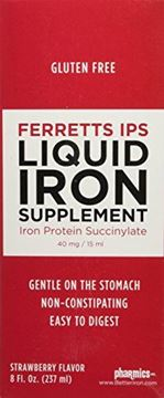 Picture of Pharmics - Ferretts IPS Liquid Iron Supplement, Better Tolerability and Absorption- Strawberry Flavor, 8 Ounces