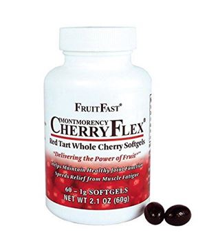 Picture of Cherry Flex by FruitFast - 100% Red Tart Cherry Concentrate Supplement - 60 Count - Non-GMO and Gluten Free - Promotes Healthy Joint Function
