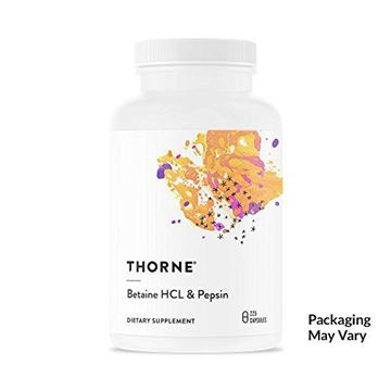 Picture of Thorne Research - Betaine HCL & Pepsin - Digestive Enzymes for Protein Breakdown and Absorption - 225 Capsules