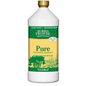 Picture of Buried Treasure Pure Colloidal Minerals 70 Plus Plant Derived Minerals from Eden Era Natural Plant Based Nutritional Supplement Liquid Bio-Available for Fast Absorption and Assimilation. 32 oz