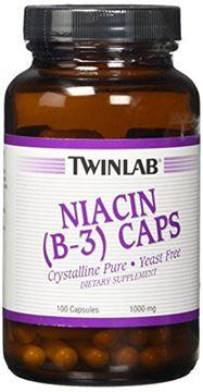 Picture of Niacin (B-3) 1000mg Twinlab, Inc 100 Caps