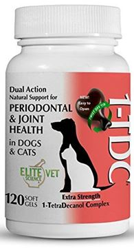 Picture of 1-TDC Dual Action Natural Support – 120 Twist Off Soft Gels | Delivers 4 Major Health Benefits for Dogs & Cats | Oral Health, Hip & Joint Health, Muscle & Stamina Recovery, Skin & Coat Health