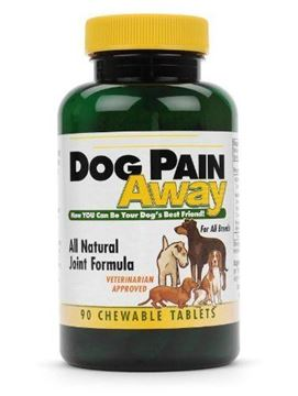 Picture of Dog Pain Away - Premium Fast Acting Relief for Aches and Pains - Repairs Connective Tissue and Relieves Joint Pain - 90 Chewable Tablets