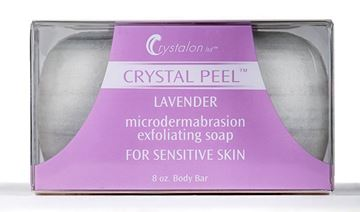 Picture of CRYSTAL PEEL MICRODERMABRASION EXFOLIATING SOAP BAR - LAVENDER 8 OZ
