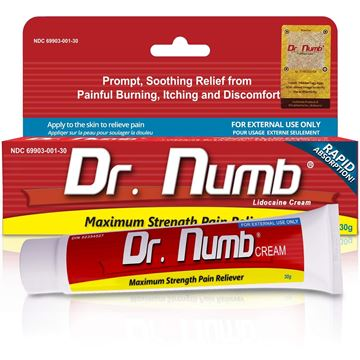 Picture of Dr. Numb Maximum Strentgh Cream, Lidocaine 5%