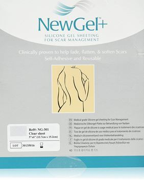 "Picture of NewGel+ - SILICONE SHEET FOR SCARS - 5"" X 6"" - CLEAR (NG-301)"