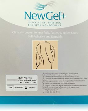 "Picture of NewGel+ - SILICONE STRIPS FOR SCARS 1"" X 6"" - CLEAR (NG-301S)"
