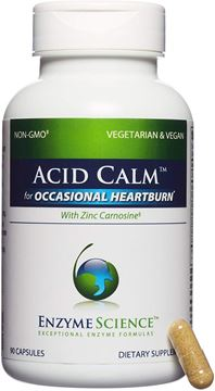 Picture of Enzyme Science - Acid Calm, Occasional Heartburn & Indigestion, 90 Vegetarian Capsules
