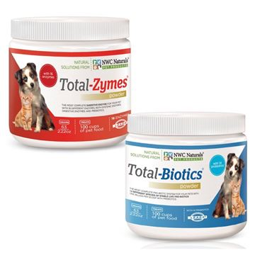 Picture of NWC Naturals Total-Digestion Mini-twin Pack Total-Zymes, Total-Biotics Each Jar Treats 100 Cups of Food