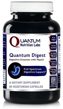 Picture of Quantum Digest, 60 Veg caps - Vegetarian Source Enzymes for Full Spectrum Digestive Support for Fats, Carbohydrates, Proteins and Dairy