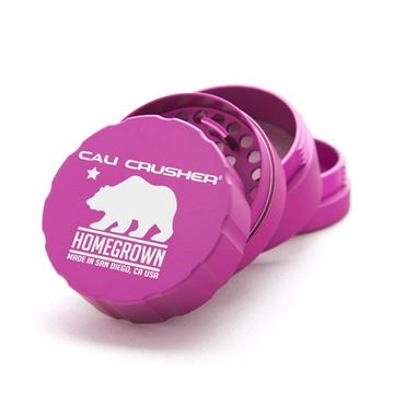 Picture of Cali Crusher Homegrown Standard 4 Piece Hard Top Herb Grinder – Fuchsia